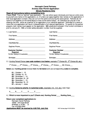 Illinois Department Of Natural Resources Deer Permit Application