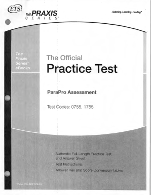 Paraprofessional Exam Practice Test - Fill Online, Printable ...