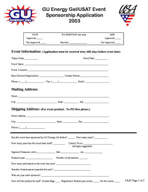 sponsor application form