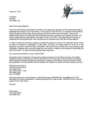 donation letter template forms fillable printable samples for pdf word pdffiller. Black Bedroom Furniture Sets. Home Design Ideas