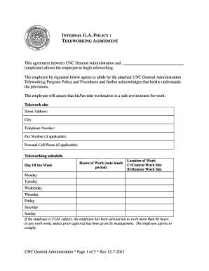 mobile device management policy template - mobile device and teleworking policy template fill out
