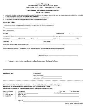 Independent Contractor Application - Fill Online, Printable ...
