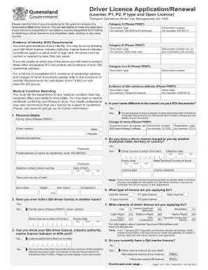 31844103 Queensland Driver License Application Form on kenyan pastors marriage, maryland marriage, pa firearm, jamaica firearm,