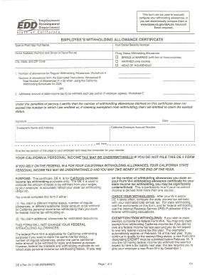 Fillable Online DE4 Form Fax Email Print - PDFfiller