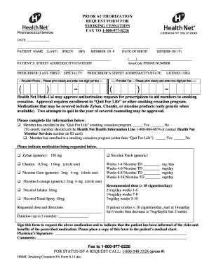 Fillable Online PRIOR AUTHORIZATION REQUEST FORM FOR ... - Health ...