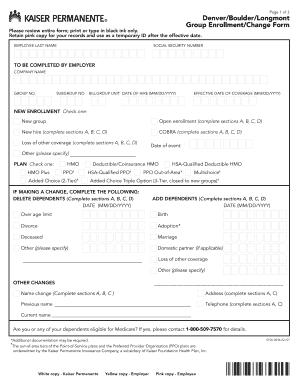kaiser broker net Fillable Online brokernet kp Enrollment/change form - Kaiser ...