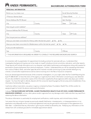 What Is An Authorization Form On A Kaiser Background - Fill Online ...
