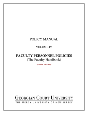 Faculty Personnel Policies - Georgian Court University - georgian