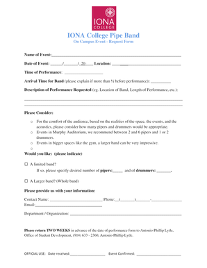 IONA College Pipe Band
