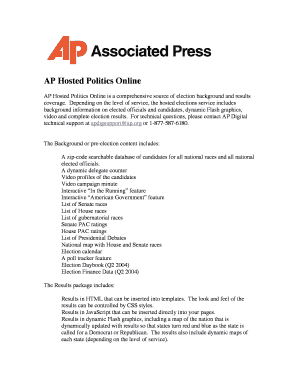 Fillable Online AP Hosted Politics Fax Email Print