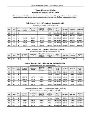 Liberty University Academic Calendar.Liberty University Registration Deadline Edit Fill Out Online