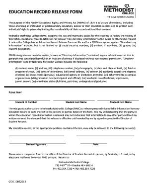 ferpa release form  Ferpa Release Form Nebraska - Fill Online, Printable ...