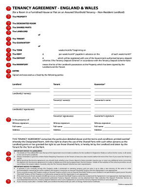 Tenancy Agreement England And Wales F302e Edit Print