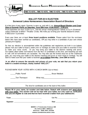 homeowners association voting ballot to Download in Word & PDF