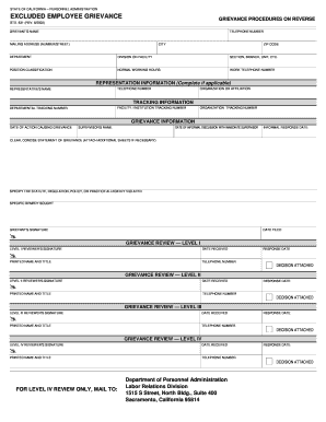Printable sample memo for awol employee edit fill out state of california personnel administration excluded altavistaventures