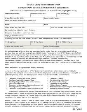 Fillable Online housingsd LA County CES - VI-SPDAT and Match ...