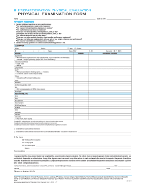 Editable mshsaa preparticipation physical evaluation form