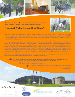 Horse amp Rider Instruction Week - Dansk frieser forbund - danskfrieserforbund