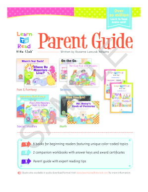 Learn to Read Parent Guide SAMPLE - Creative Teaching Press