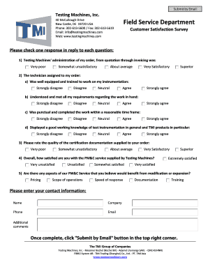 Free Printable Customer Satisfaction Survey Template. PMu0026C Satisfaction  Survey   Testing Machines, ...  Printable Survey Template