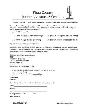 2016 Sales Brochure Pricing and Form - Pima County Jr Livestock ...