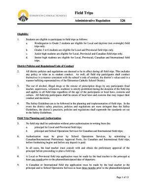 field trip permission letter to principal - Fillable Form