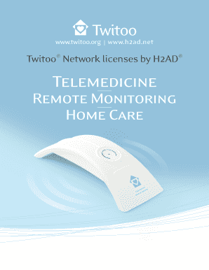 Twitoo Network licenses by bH2ADb Telemedicine - h2ad