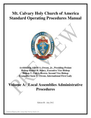 standard operating procedures manual sample