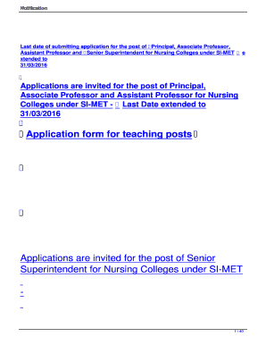 Fillable Online Simet Application Form For Teaching Posts