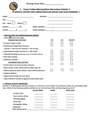 Personal Training Form - Fraser Valley Metropolitan Recreation ...