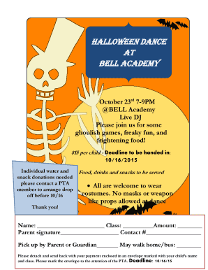Halloween party flyer - BELL Academy