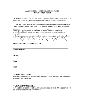 BAAUWb WOMAN OF EXCELLENCE AWARD NOMINATION FORM - pt-wa aauw