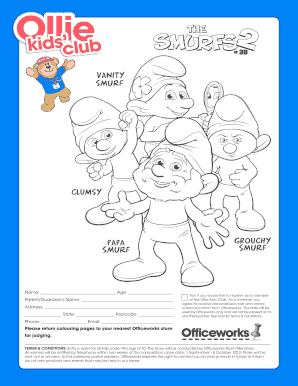 Smurfs 2 Printable Coloring Sheet | Coloring pages, Smurfs, Free ... | 386x298