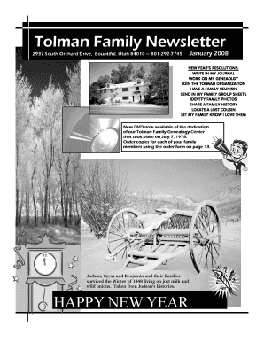 Tolman Newsletter Jan 2008pub