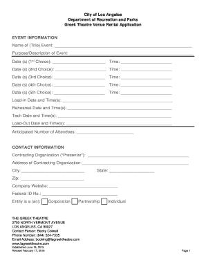 rent application form california