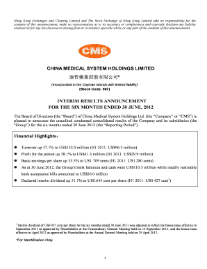 Fillable Online en cms net Annual Report 2012 - China
