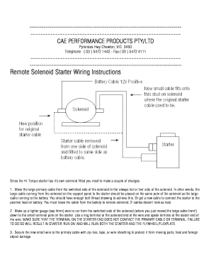 Pleasant Fillable Online Remote Solenoid Instructions Wiring 101 Tzicihahutechinfo