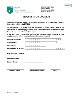 Printable request for locker edit fill out download form request for locker altavistaventures Image collections