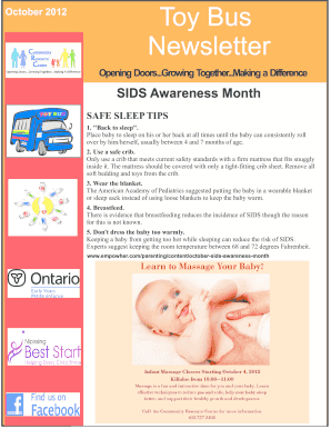 October 2012 Toy Bus Newsletter - Early Years - Renfrew - earlyyearsrenfrew