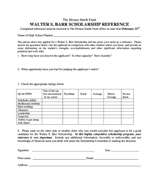 part 2 printable reference form horace smith fund