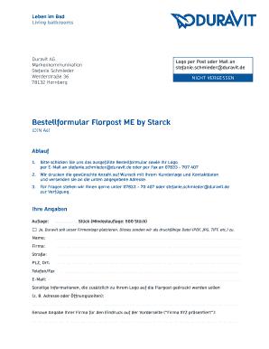 Bestellformular Florpost ME by Starck - produravitde Fill Online ...