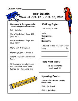 csat k12 Fillable Online csat-k12 Bair Bulletin 102315 - Charter School for ...