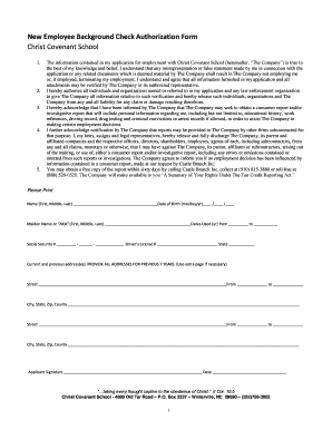 employee background check form authorization - Edit, Fill, Print ...