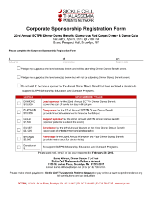 Corporate Sponsorship Registration Form - bSCTPNb
