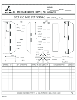 door specification sheet  sc 1 st  PDFfiller & Door Specification Sheet - Fill Online Printable Fillable Blank ... pezcame.com