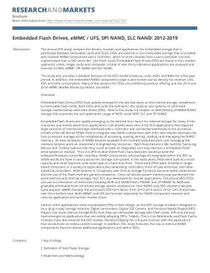 Fillable Online Embedded Flash Drives eMMC UFS SPI NAND SLC NAND
