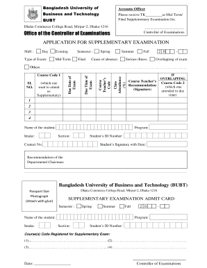 Fillable Online Office of the Controller of Examinations