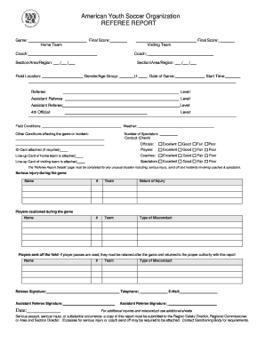 Referee Game Report Form Final Form May 2006doc