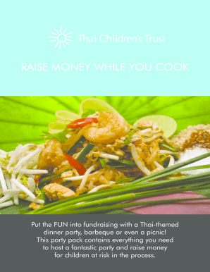 Fillable online thaichildrenstrust org raise money while you cook fill online forumfinder Choice Image