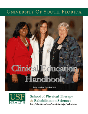 Fillable Online Hsc Usf Clinicaleducation Handbook Usf Health
